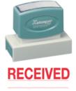 Xstamper 3251 Jumbo Stamp - Received (Line), Red, 7/8