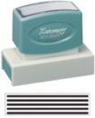 Xstamper 3270 Jumbo Stamp - Cancellation Bars, Black, 7/8