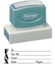 Xstamper 3279 Jumbo Stamp - Fax, Black, 7/8
