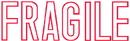 Xstamper 35167 vX Title Stamp Clam Pack - Fragile, Red, 1/2