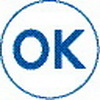 Xstamper 35603 vX Specialty Stamp Clam Pack - OK, Blue, 7/8