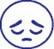 Xstamper 35636 vX Specialty Xpression Stamp Clam Pack - (Sad), Blue, 7/8