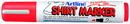 Xstamper 47195 T-Shirt Marker EKT-2, 2.0mm, Fluorescent Red