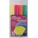 Xstamper 47311 2mm Bullet 4PK Poster Markers (Fluorescent) EPP-4