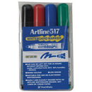 Xstamper 47385 (ASSORTED) EK-517 White Board Marker 4PK, 2.0mm