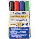 Xstamper 47386 (ASSORTED) EK-519 Artline Dry Safe Whiteboard Markers 4PK, 2.0-5.0mm