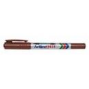 Xstamper 47406 Twin Nib Marker EK-041T, 0.1-1.0mm, Brown