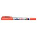 Xstamper 47407 Twin Nib Marker EK-041T, 0.1-1.0mm, Orange