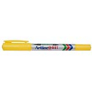 Xstamper 47409 Twin Nib Marker EK-041T, Yellow, 0.1-1.0mm
