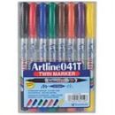 Xstamper 47414 (ASSORTED) EK-041T Twin Nib Markers 8PK, 0.1-1.0mm