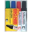 Xstamper 47455 (ASSORTED) EK-5100A Artline Big Nib 4PK Whiteboard Markers, 5.0mm