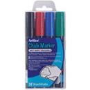 Xstamper 47470 Chalk Marker 2.mm Bullet 4pkErasable (Primary) ColorsEPW-4