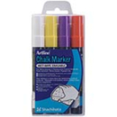 Xstamper 47471 Chalk Marker 2.mm Bullet 4pkErasable (Secondary) ColorsEPW-4