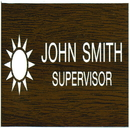 Xstamper J23 - Name Badge with/Logo1-1/2