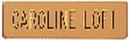 Xstamper J50 - Metal Uniform Badge Gold w/Black Letters5/8