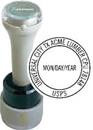 Xstamper N95-832-HD N95-832 Circular Date Stamp with Horizontal Date