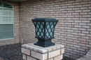 YardBright GBT9017B Premium Classic Solar Pillar Light In Black