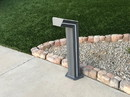 YardBright GBT9018B Solar Bollard Path Light with Blue Accent Led