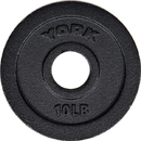 York Barbell 7352 10 lbs. Int'l Cast Iron Olympic Plate - Black