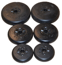 York Barbell 1172 Aerobic Weight Set (2 x 10 lb, 5 lb, 2.5 lb) and pr. Quick Collars (Bar not included)
