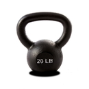 York Barbell 15120 20 lb. Single Kettlebell - Black
