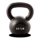 York Barbell 15150 50 lb. Single Kettlebell - Black