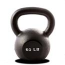 York Barbell 15160 60 lb. Single Kettlebell - Black