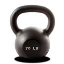York Barbell 15170 70 lb. Single Kettlebell - Black