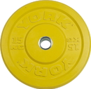 York Barbell 28092 USA 15 KG Yellow Rubber Training Bumper Plate