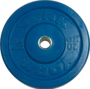 York Barbell #28093 USA 20 KG Blue Rubber Training Bumper Plate