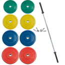 York Barbell 28097 155kg USA Solid Colored Rubber Training Bumper Set (2 x 25, 20, 15, 10 kg.)