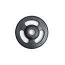 York Barbell 29024 ISO-GRIP 35 lb Rubber Encased Steel Composite Olympic Grip Plate - Black