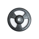 York Barbell 29025 ISO-GRIP 45 lb Rubber Encased Steel Composite Olympic Grip Plate - Black