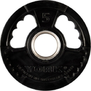 York Barbell 29079 G2 Thin Line Rubber Coated Olympic Plates - 5 LB