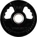 York Barbell 29080 10 lb. G2 Dual Grip Thin Line Rubber Encased Olympic Plate