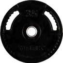 York Barbell 29082 35 lb. G2 Dual Grip Thin Line Rubber Encased Olympic Plate