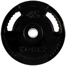 York Barbell 29083 G2 Thin Line Rubber Coated Olympic Plates - 45 LB