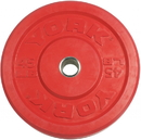 York Barbell 29089 USA 45 lb Red Rubber Training Bumper Plate