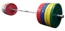 York Barbell 29093 325 lb USA Colored Solid Rubber Bumper Training Set (2 x 45, 2 x 35, 4 x 25, 2 x 10 lb.), #32004, pr. Spring Collars