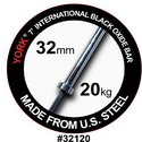 York 32120 7FT North American Black Oxide Bar (32MM, 1500# test bar)