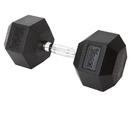 York Barbell 34064 45 lb Rubber Hex w/ Chrome Ergo Handle
