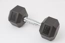 York Barbell 34075 100 lb Rubber Hex w/ Chrome Ergo Handle