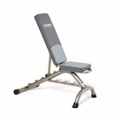 York Barbell 45071 Multi Position Fitness Bench w/Fitbell Storage - Silver Frame