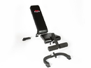 York Barbell 48004 FT Flex Bench w/Foot Hold-down White Frame/Black Upholstery