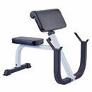 York Barbell 48050 FT Preacher Curl Bench White Frame/Black Upholstery