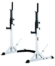 York Barbell 48057 FT Press Squat Stands White