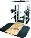 York Barbell 54014 St Double Half Rack - White