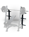 York Barbell 54142 ST Optional Weight Storage - Black fits Olympic Flat, Incline and Decline Benches w/Gun Racks