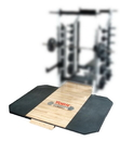 York Barbell 54245 ST 8 x 4 Solid Red Oak Platform With Custom Logo (Use with Solid Red Oak Insets Only)