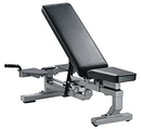 York Barbell 55004 ST Multi-Function Bench with wheels - Silver
